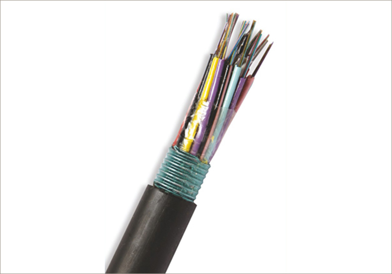 Outdoor Multi Loose-Tube Steel Armored Jelly-Filled Single-Jacket Optical Fiber Cables